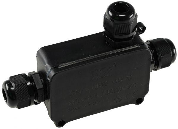 Kabelverbinderbox, 3 Anschlüsse, IP66 230V, wasserdicht, für z.B. Erdkabel