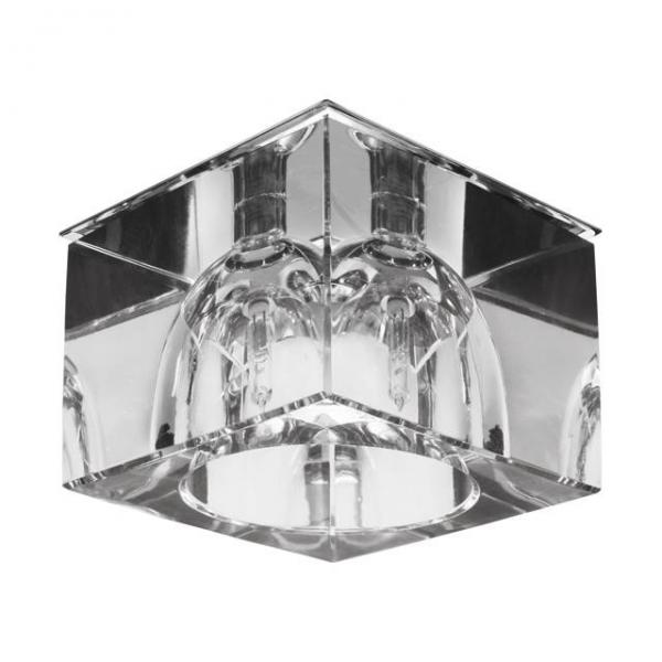 Edle Deckenleuchte in Glas/Chrom-Design G4 Fassung