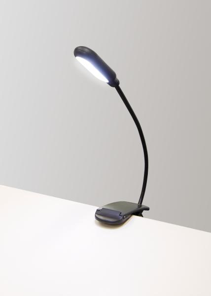 LED-Klemmleuchte / Leseleuchte McShine, 5 LEDs, mit Akku