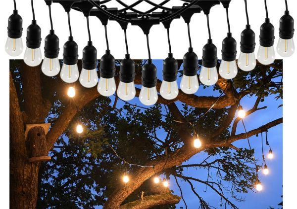 "Biergarten-Lichterkette ""CT-BGL 15"" 1,5 + 12,5m, 15x Filamentlampe 0,8W"