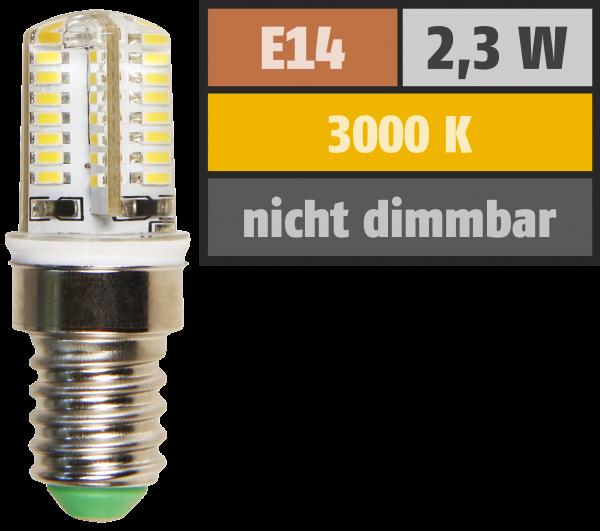 LED-Lampe McShine Silicia, E14, 2,3W, 200 lm, warmweiß