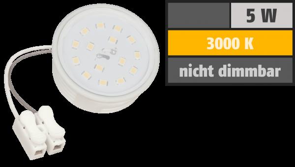 LED-Modul McShine, 5W, 400 Lumen, 230V, 50x23mm, warmweiß, 3000K, Milchglas