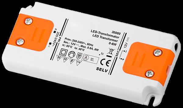 LED-Trafo 6W, elektronisch, 12V DC, slim