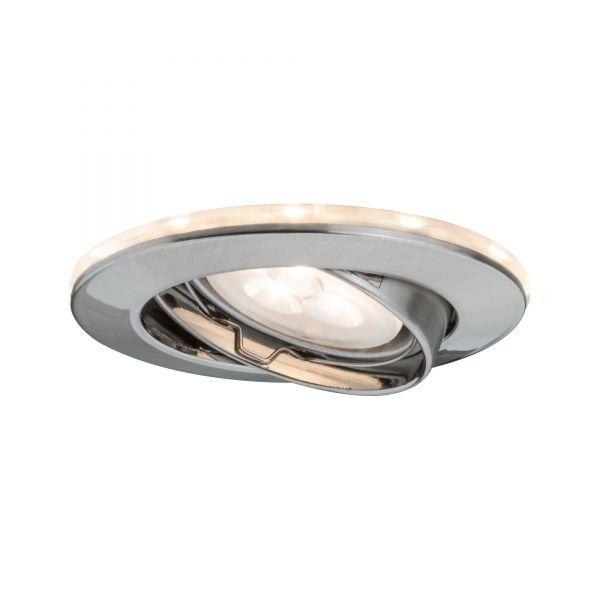 Paulmann Star EBL Set schwenkb m. LED Ring Shine 2700K 3x4,5W 230V GU10/1W Eisen geb.