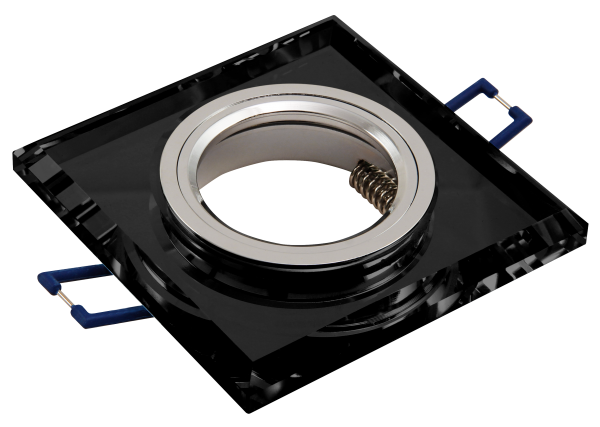 Einbaurahmen McShine Kristallglas eckig, schwarz, 90x90mm