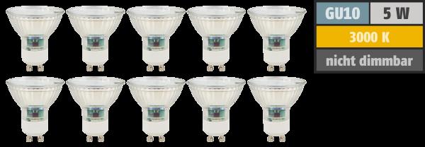 LED-Strahler McShine SP50-10, GU10, 5W, 400 lm, warmweiß, 10er-Pack