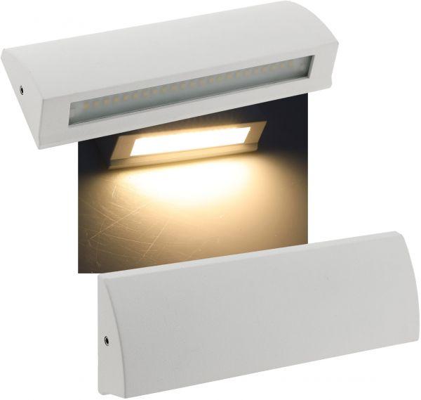 "LED Wandleuchte ""BARCAS 6"" IP54, 7W, 340lm, 3000K, warmweiß"
