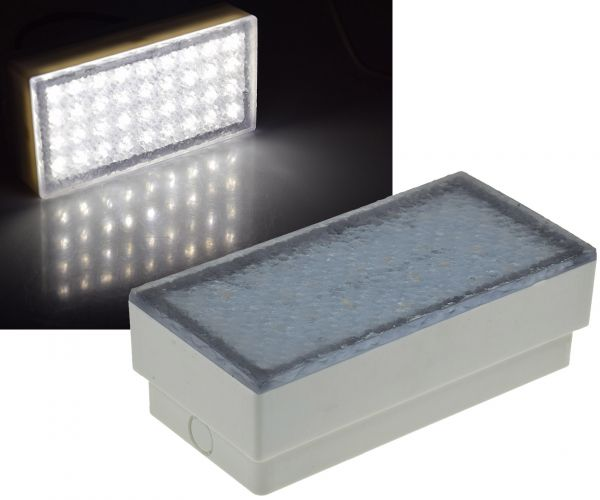 "LED Pflasterstein ""BRIKX 20"" neutralweiß 20x10x7cm, 180lm, IP67, 230V"