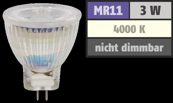 LED-Strahler McShine MCOB MR11 / G4, 3W, 250 lm, neutralweiß