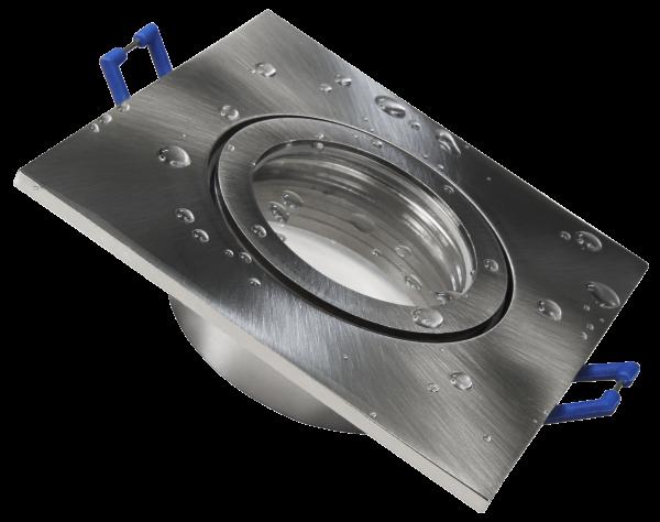 Einbaurahmen McShine DL-54 eckig, Clip-Verschluss, IP44, Edelstahl gebürstet