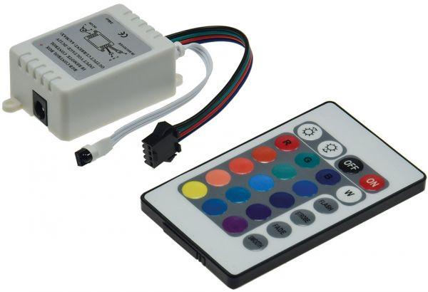 RGB LED-Stripe Controller Infrarot mit Fernbedienung