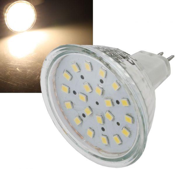 "LED Strahler MR16 ""H40 SMD"" 120°, 3000k, 280lm, 12V/3W, warmweiß"