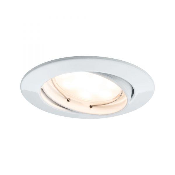 Paulmann Einbauleuchten LED Coin 3er-Set 7W dimm- und schwenkbar