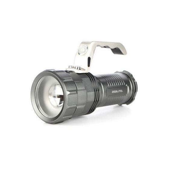 asalite wiederaufladbare LED Taschenlampe 10W ink. 3x Batterie
