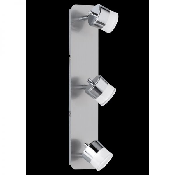 Honsel LED-Deckenleuchte Pico mattnickel/chrom 3x 4,5W 3000K 3x400lm