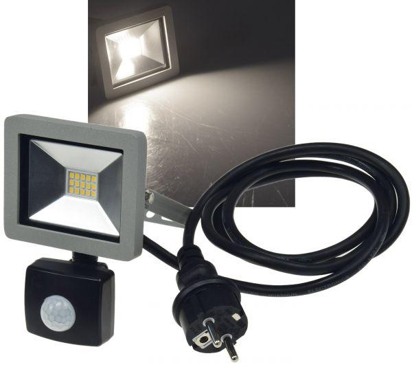 "LED-Fluter SlimLine ""CTF-SLT10 PIR"" 10W, IP44, 750lm, 4200K, Bewegungsmelder"
