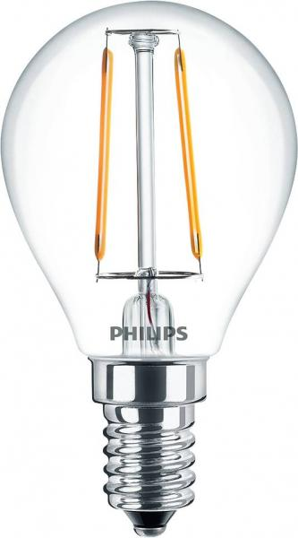 Philips LED Filament Classic Birne E14 2 Watt 250 Lumen warmweiß A++