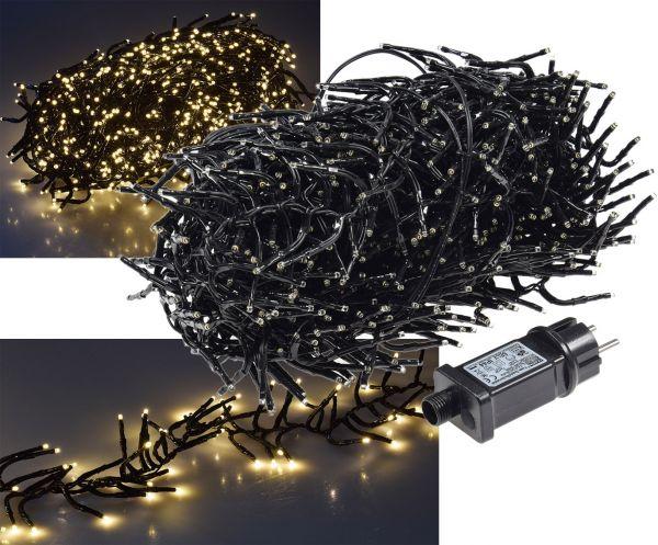 """LED Büschel-Lichterkette """"CT-BLK100"""" 10m warmweiß, 8 Effekte, IP44, 1000 LEDs"""