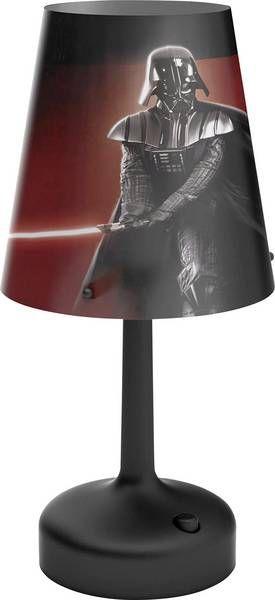 Philips Star Wars Darth Vader LED Tischleuchte/Nachttischleuchte Plastik 0.6 W schwarz