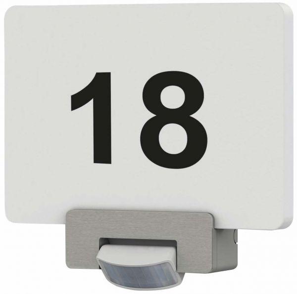 Hausnummernleuchte mit Bewegungsmelder incl. Zahlen-/Buchstabensatz, 2x 1W LED