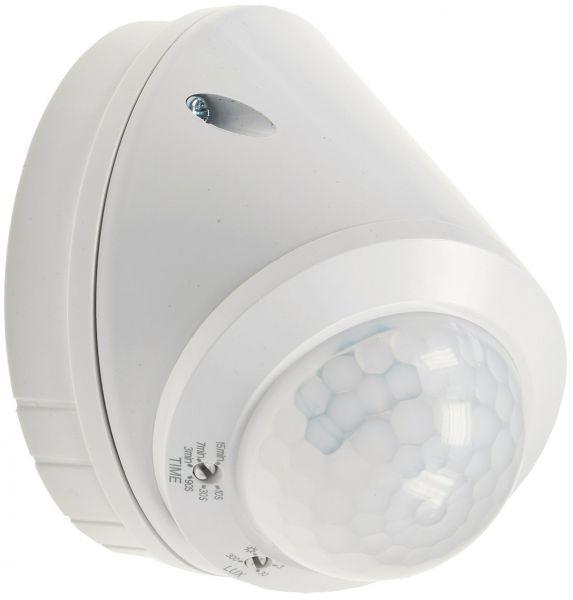 Wand- & Decken-Bewegungsmelder 360° LED geeignet, 8m Detektion, weiß