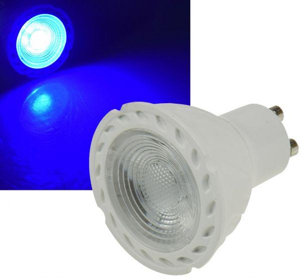 "LED Strahler GU10 ""LDS-50"" blau 38°, 230V/5W"