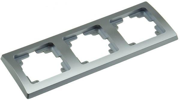 DELPHI 3-fach Rahmen silber