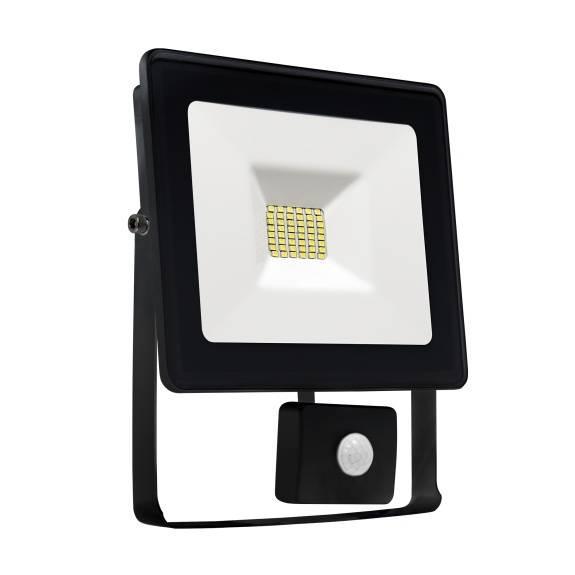 LED Fluter / Scheinwerfer NOCTIS Lux in Schwarz 30 Watt mit Bewegungsmelder - Lichtfarbe wählbar