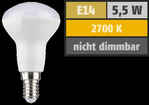 LED Reflektor HD95 E14, R50, 5,5W, 420lm, 2700K, warmweiß, Ra>95