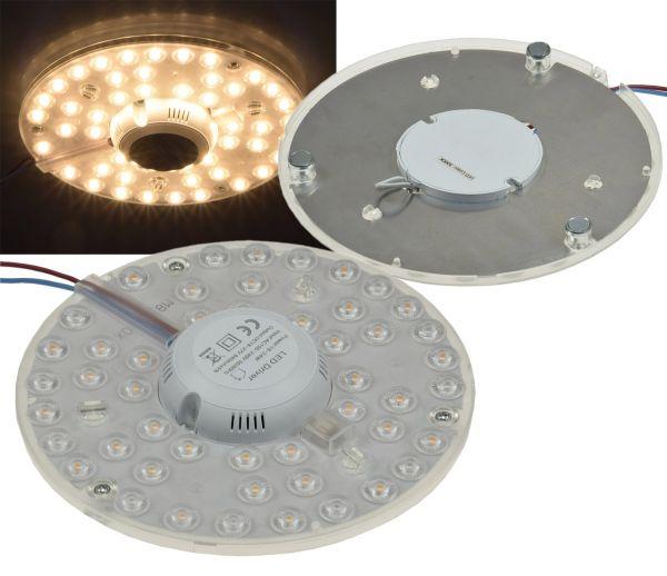 "LED Umrüstmodul ""UM18ww"" für Leuchten Ø180mm, 18W, 1600lm, 3000K, Magnethalter"