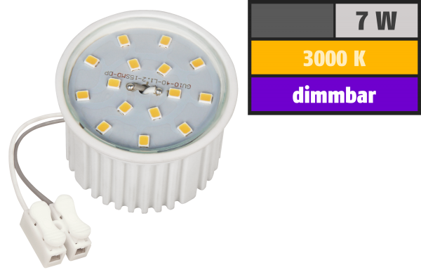 LED-Modul McShine, 7W, 510 Lumen, 230V, 50x33mm, warmweiß, 3000K, dimmbar