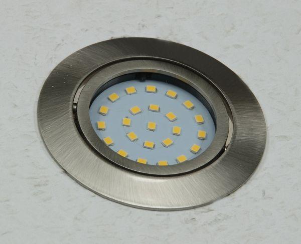"""LED-Einbauleuchte """"Flat-26"""" warmweiß 80x26mm, 4W, 330lm, Edelstahl gebürstet"""