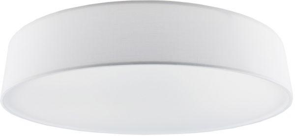 Deckenleuchte mit Textilschirm weiß ØxH 50x12cm, für 4x E27 Lampe