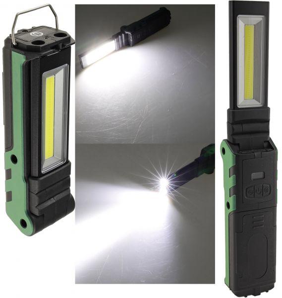 "LED Akku-Arbeitsleuchte ""FlapLED 500"" LiIon Akku, Magnethalter, 5W, 400lm,IP44"