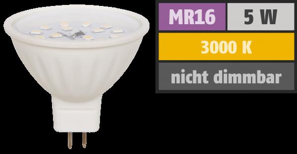 LED-Strahler McShine ET50, MR16, 5W, 400 lm, warmweiß