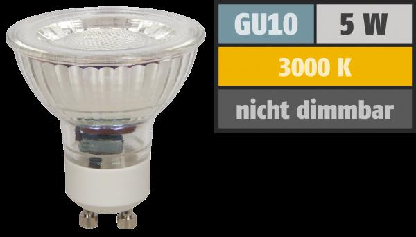 LED-Strahler McShine MCOB GU10, 5W, 400 lm, warmweiß