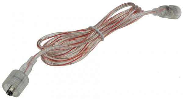 Anschlusskabel für LED-Stripes IP44 5,5mm Koax, 1,5m, Koax-Stecker/Kupplung