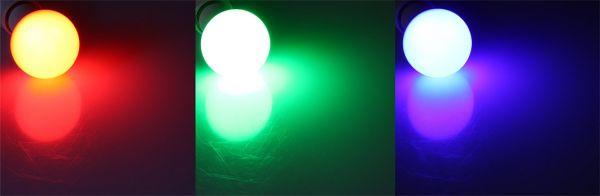 LED Glühlampe E27 RGBW mit Fernbedienung 5W, Abstrahlwinkel 270°, max. 320lm