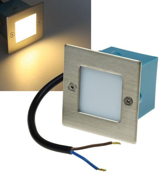 """LED-Einbauleuchte """"Cuadrado Q9"""" Edelstahl-Front, 9 LEDs, warmweiß"""