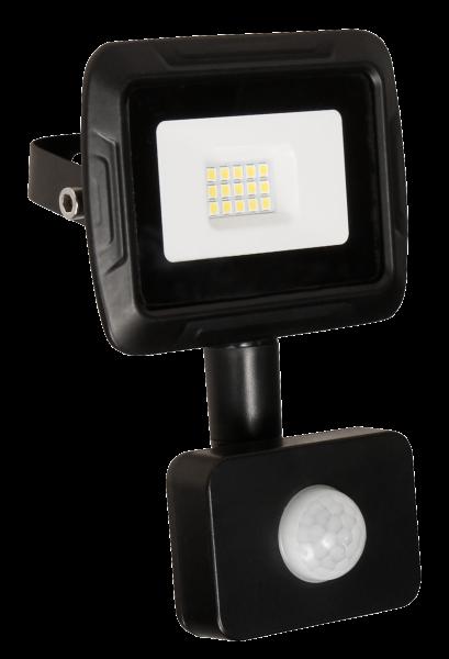 LED-Außenstrahler McShine Super-Slim 10W, 800lm, 4000K, IP44, Bewegungsmelder
