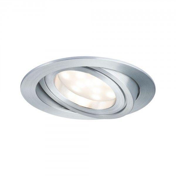 Paulmann Einbauleuchte LED Coin satiniert rund 1x7W, Alu, dimm- und schwenkbar
