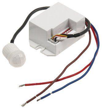 """Einbau-Bewegungsmelder """"CT-PIR Mini"""" 230V, 800W, Ø 15mm, LED geeignet, weiß"""