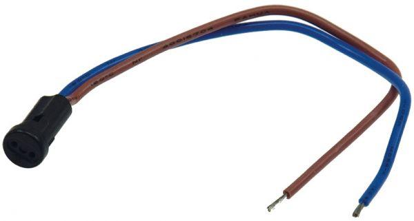 """G4 Lampenfassung """"Mini"""" rund, max 12V/50W, 15cm Kabel"""
