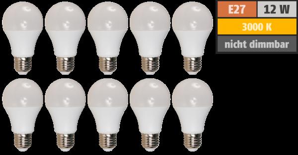 LED-Glühlampe McShine Brill95 E27, 12W, 1.000lm, warmweiß, Ra >95, 10er-Pack