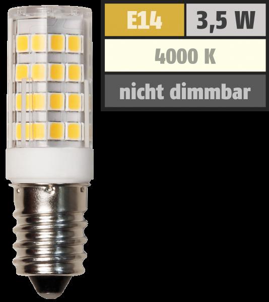 LED-Kolbenlampe McShine, E14, 3,5W, 300lm, 4000K, neutralweiß