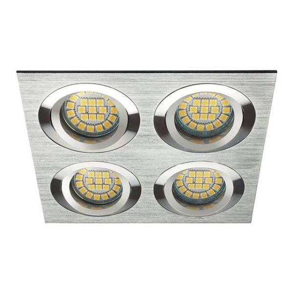 Vierfach Deckeneinbaurahmen gebürstetes Aluminium Silber