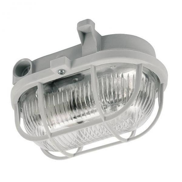 Kanlux Milo Kellerleuchte Ovalleuchte mit Kunststoffkorb E27 Fassung IP54