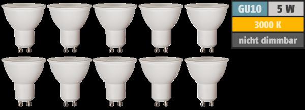 LED-Strahler McShine Brill95 GU10, 5W, 400lm, 38°, warmweiß, Ra>95, 10er-Pack