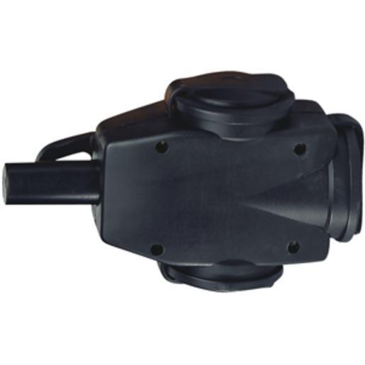 H3VGK325, Dreifach Vollgummi-Hängekupplung 3 x 2,5mm²