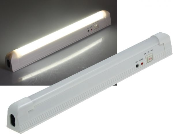 "LED Notleuchte ""CTNL-30 SMD-UB"" Lithium Akku 3,7V/1200mAh, 2W, 30x2x3cm"